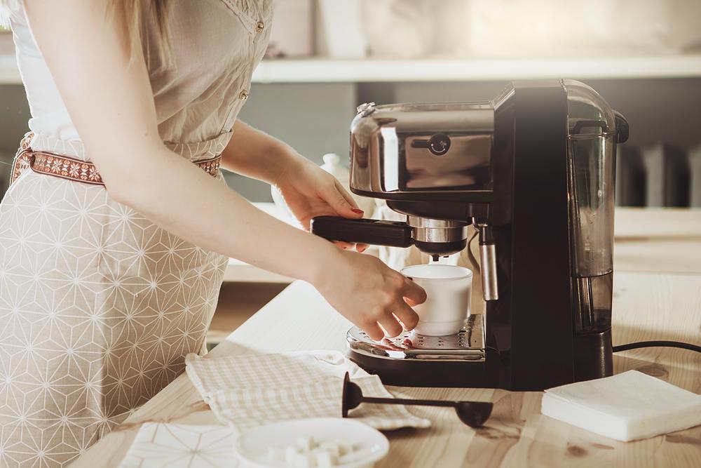 schicke, kleine Espressomaschine für zuhause